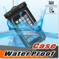 Universal para iPhone12 Plus Samsung À Prova D 'Água Saco de Saco de Celular Prova de água à prova de água Saco para telefone inteligente até 5,8 polegadas diagonal
