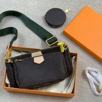 Handtasche Umhängetaschen Luxus Klassische Mode Marke Designs Frauen M44813 Top Qualität Cowhide Triad Mahjong Paket Hobo-Geldbörse Kommen Sie mit Kasten