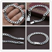 Quality 925 Sterling silver curb link chain bracelets 5mm American European antique handmade vintage designer luxury jewelry accessories gifts