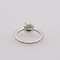 Band Ringe Echte 925s Silber CZ Diamant Ring mit Original Box Set Fit Pandora Stil Hochzeit Schmuck Verlobungsschmuck für Frauen Mädchen