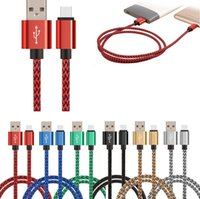 USB C Type Micro V8 Fast Charging Cables 2A Nylon Braided 1m 2m 3m 3ft 6ft 10ft Long Charger Cord For Samsung Huawei Mobile Phones Cell Phone Xiaomi LG Android