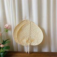 Paille tissée à la main Bamboo Fan Baby Protection de l'environnement Protection de l'environnement Mosquito Repellent Ventilateur pour la fête de la fête de mariage d'été RRD7285