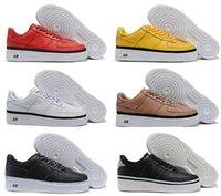 Cheap 1 Mens Womens Casual Sapatos Forças Clássicas Forçando Baixo Designer Vermelho Skate Flat Skate Skate Unisex Man Fashion Sport Sapata