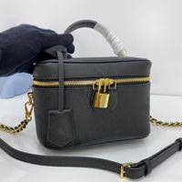 """Womens Brand Bag Louis """"Vitton Designer 5SJ0 Empreitung Leder Riesenqualität Super Bag zu Mini Vanity Hüllen Easy Frauen Fit Blumenreisen"""