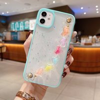 Bracelet Wristband Phone Cases For Iphone 13 11 12 Pro Max Xr Xs Luxury Women Glitter Bling Transparent Protective Shell Back Cover Shockproof Anti-fall