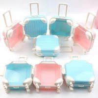 Eyelashes Set Luggage Box Case Eyelash Packaging Boxes Rectangle Mini Suitcase Lash Packing Make Up Empty Wholesale
