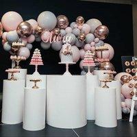 169pcs / set Gris Pink Latex Globox 4D Rose Gold Balloons Chain Ballon Arch Fiesta Fiesta Fiesta de cumpleaños Decoración de la boda Fondo de decoración