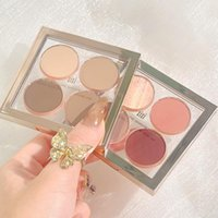 Eye Shadow Portable 4-color Eyeshadow Palette Gold Matte Waterproof Long-lasting Makeup Glitter Cute And Charming