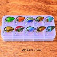 10 قطعة / صندوق 10 لون مختلط 28.5 ملليمتر 1.95 جرام كرنك الصيد السنانير 12 # هوك الصلب الطعوم السحر pesca معالجة الملحقات WA_570