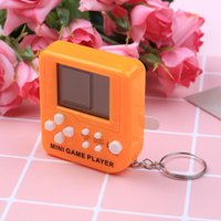 Keychains Ultra-small Portable Mini Tetris Children Handheld Game Console LCD Players Toy Educational Electronic Toys Classic