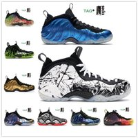 2021 Air Foamposite Penny Hardaway Chaussures Hommes Baskets FoampositeUn Hommes Chaussures de basket-ball Doernbecher CRIMSON Violet Knicks baskets de sport orange