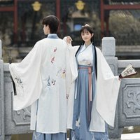 Lovers' Hanfu female adult ancient costume spring and summer new male Han element CP three piece set embroidered student