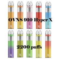 Original OVNS 910 Hyper X Disposable E-cigarettes Device Kit 7ml Prefilled Pods 2200 Puffs 1000mAh Battery Stick Vape Pen Vs Bar Plus