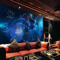 Sfondi personalizzati su misura 3D wallpaper per pareti bar bar blu stella dodici costellazione pittura decorativa in seta