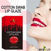 Lip Gloss 20PCS Disposable Cotton Swab Tint Tattoo Lipstick Kit Rich Color Dye Liquid Makeup Cosmetics For Women TSLM2