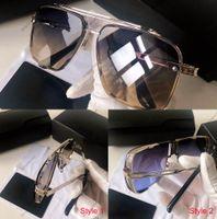 En Kaliteli Model Güneş Gözlüğü Erkek Bayan Metal Vintage Moda Stil Tasarımcı Sunglass Erkekler Kadınlar Tüm Maç UV 400 Lens Paket ile Gelin Steam Punk Dita