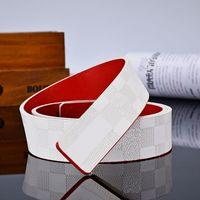 2021 двухсторонние белые красные оранжевые мужские ремни с сплавом V пряжки для мужчин CEINTURE высокого качества натуральная кожаный пояс