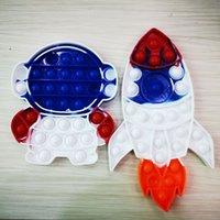 Astronauta Rocket Silicone Descompression Toy Push Fidget Bolha Dos Desenhos Animados Toys Sensory Divertido Divertimento Brinquedo Educacional MMA160