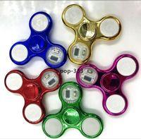 Gants Electroplated 18 - LED Clignotant Fidget Spinner Spinner Toy pour enfants