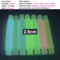 2.9cm Pop Tubes Fidget Toy for Kids Teens and Adults Mini Big Popping Fidgets Tube Pack Stress ReleaseAutism Sensory Toys Luminous