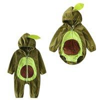 Enfants Beaux Garçons Garçons Avocadio Capuche Toddler Enfant Toddler Flanel Jumpseau Spring Automne Hiver Mode Mode Boutique Vêtements de bébé Z4464