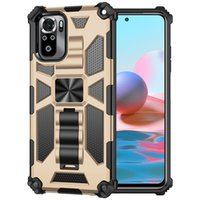Military Anti-Fall Phone Cases For Xiaomi Redmi Note 10s 10 10Pro 9Pro 9 9s 9a 9c 8Pro 8 Poco X3 NFC Pro Armor Ring Stand Holder Protective Shell