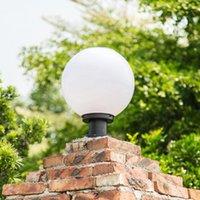 Solar Lamps Column Head Light Control Outdoor Pillar Lights Doorpost Round Community Villa Garden Lamp Waterproof Led Wall 1.2w