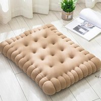 NEWCushion Decorative Pillow Cute Biscuit Shape Anti-fatigue PP Cotton Soft Sofa Cushion For Home Bedroom Office Dormitory GWE10656