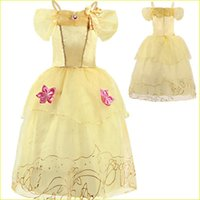 Girl Belle Cosplay Costume Princess Dresses Baby Kids Christmas Birthday Party Prom Fancy 2 3 4 5 6 7 8