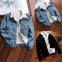 Jaqueta New Winter Denim Mulheres Jaqueta Mulheres Vintage Lambswool Quente Jean Jaquetas Na moda Longa Manga Longa Outwear Revestimento 091