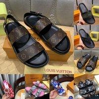 Diseñadores de lujos de alta calidad Sandalias para mujer para hombre Plataforma Sandalia Floral Cuero Diapositivas de goma Flip Flops Zapatillas Aire Libre Deslizadores Mocasines con caja
