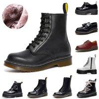 Martin Boots Designer 1460 Män Kvinnor Mode Martins Vinter Boot Classic 8-håls Platform Skor Ankle Läder Lace-up Booties