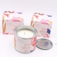 Langlebige duftende Kerzen Individuelles Paket Grapefruit Granatapfel Vanille Soja Wachs duftende Kerzen Geschenke für ihren DHA3916