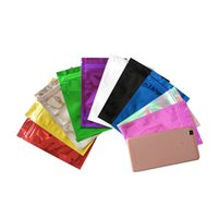 100 pz / lotto Zipper Top Mylar Foil Bag Reclosable Alluminio Foglio di alluminio Zip Blocco Confezione Pacchetto Bag Heat Sealeable Food Grocery Campione Mylar Bags 218 V2