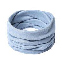 Bufandas Baberos de invierno para hombres y mujeres All-Match Pure Color Pure Hecha Cuello Cervical Collar de collar Cervical A prueba de viento Bufanda Caliente Falso N12