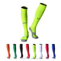 21 3 Çift Nefes Açık Spor Çorap Futbol Kalınlaşmak Diz-Yüksek Çorap Bisiklet Futbol Sıkıştırma Çorap
