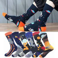 2021 autumn and winter new outer space socks 1 creative cotton socks couple tube socks cartoon alien