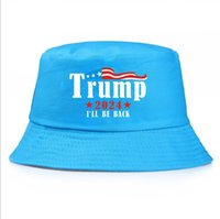 Simple Trump 2024 I'll Be Bacj Bucket Sun Cap USA Presidential Election Fisherman Hat All Seasons Fall Outdoor Solid colors