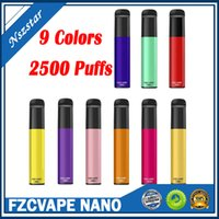 Original FZCVAPE NANO Disposable E Cigarettes Device 2500 Puffs 1000mAh Battery 6ml Prefilled Pod Cartridge Vape Pen VS Bang XXL Authentic