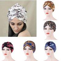 Muslim Women's Print Cotton Turban Hat Cancer Chemo Beanies Cap Headwear Wrap Plated Hair Loss Cover