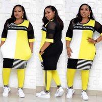 Womens Tracksuits Nouveaux vêtements africains Deux Piece Ensembles Longues Tops Skinny Pantalons Associé Ensemble Mesh Patchwork Plus Taille Femme Vêtements