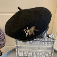 Femmes Cool Femmes Designer Bonnet Chapeaux Black Wellens Bonnets Béret Béret Beauté Haute Qualité Fashion Prom Formel Lady Lady Lady
