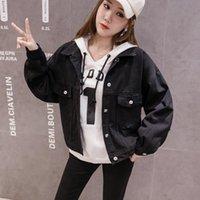 Women's Jackets Denim Jacket Female Spring And Autumn Korean Loose Casual Bat Shirt All-match Long-sleeved Top Tide
