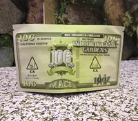 empty edibles packaging Mac 1 dollar 10g mylar bag resealabl...