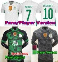 2021 Cezayir Mahrez Futbol Forması Hayranları Oyuncu Sürümü Maillot Argelia Cezayir Özel 21 22 ATAL Feghouli Slimani Brahimi Eve Uzakta Siyah Bennacer Futbol Gömlek