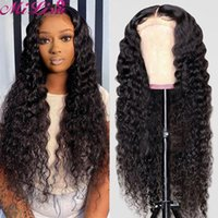 Lace Wigs MI LISA Curly Human Hair Wig For Women Pre Plucked 13x4 Frontal 30 Inch Front Brazilian Deep Wave