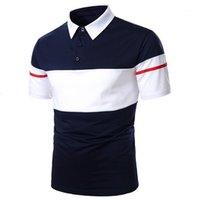 Moda Doble color Polos con paneles Casual Manga corta Zona de cuello de solapa Polos para hombre Diseñador de ropa Polo Camisas Hombres