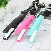 Мини портативные электрические шины плоские железные пластиковые волосы Curler выпрямитель для волос для волос для волос стайлинг прибор для волос для волос DH1398 T03