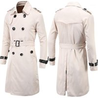 Top Quality 2021 Fashion Gentleman Trench Coat Slim Double- b...
