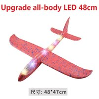 48cm LED DIY Electric RC Aircraft Throw Flying Glider Planes Foam Aeroplane Model Party Bag Fillers Toys Kids Game